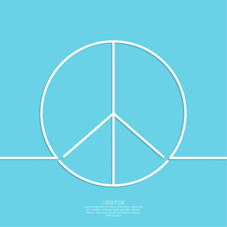 non violence: Peace sign. The concept of non violence and humanity. World peace. minimal. Outline.