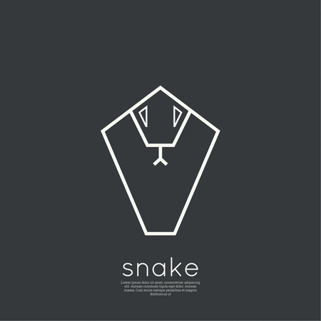 terrarium: The symbol of the snake. vector design template.