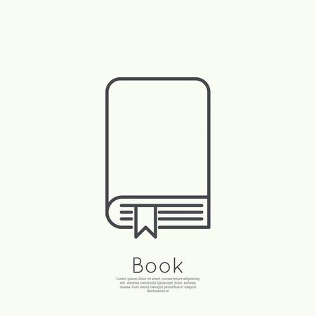 Icône de livre avec signet. minime. Outline. pour les applications web et mobiles Banque d'images - 36556060