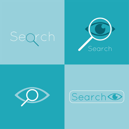 espionage: Icon eyes with a magnifying glass. Logo. Search, analysis, study, medicine, ophthalmology. Seo. Search Engine Optimization. spy, espionage Logo. Search, analysis, study, medicine, ophthalmology. Seo. Search Engine Optimization. spy, espionage