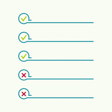 prioridades: Port�til con para hacer la lista. Las l�neas con casillas de verificaci�n. lista de verificaci�n para la nota. consentimiento. marca de verificaci�n. elecci�n y votaci�n Vectores