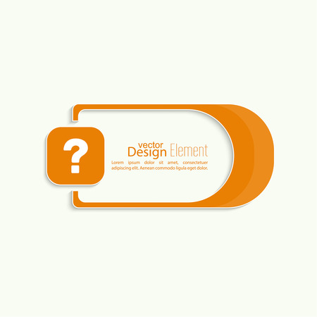 questionail: Question mark icon. Help symbol. FAQ sign on a yellow background. vector. Vector banner