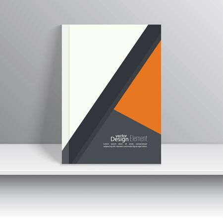 notebook cover: Magazine Cover with pieces colored paper. For book, brochure, flyer, poster, booklet, leaflet, cd cover design, postcard, business card, annual report. vector illustration. abstract background