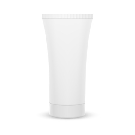 aftershave: The plastic tube. Packing for cream, gel, toothpaste, cosmetics. Mock up. Illustration
