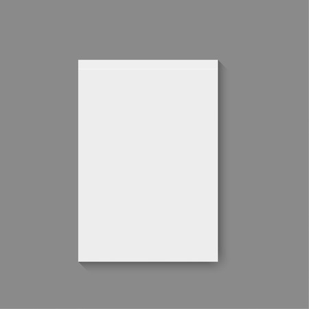 business book: Blank empty magazine, album or book template lying on a gray background. vector Illustration