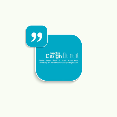 Quotation Mark Speech Bubble. Quote sign icon. Vector banner