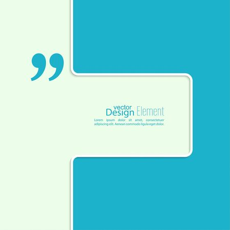quotation: Vector abstract background. Quotation Mark. Quote sign icon.