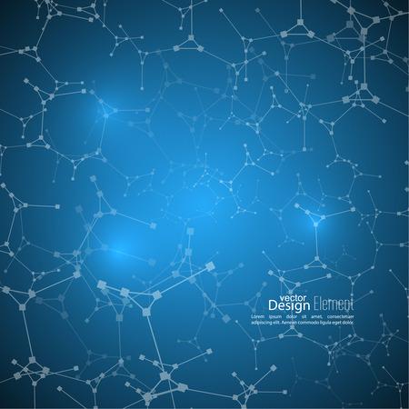 Abstracte achtergrond met DNA-streng molecuul structuur. genetische en chemische verbindingen. Onscherpe achtergrond gradiënt.