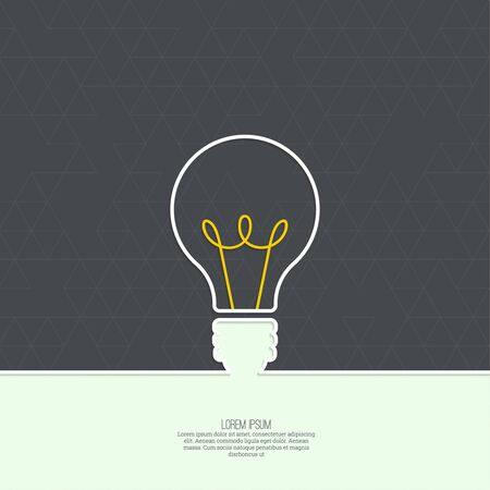 edison: Bulb light idea. concept of big ideas inspiration innovation, invention, effective thinking. text
