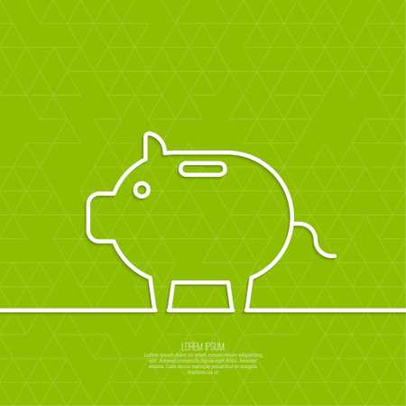 enhancement: Icon Pig piggy bank. Symbol of conservation and enhancement funds Illustration