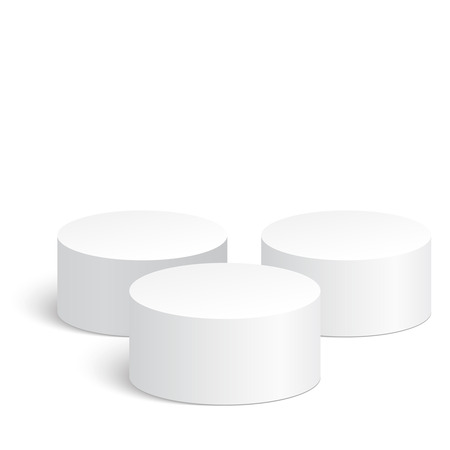pillar box: Geometric shapes, 3d cylinder. Platform, podium to advertise various objects
