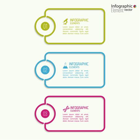Vergelijkende grafiek met banner voor de presentatie, informatieve vormen. Optie. Infographic voor het jaarverslag, statistieken, Infochart, reclame, web knop, uitleg. Proces stap voor stap. analyseren Stock Illustratie
