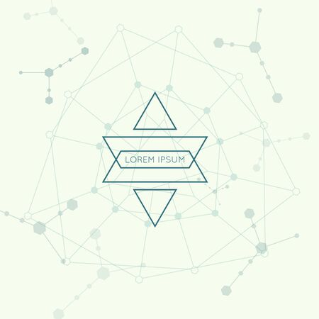 subsidiary: Hipster vector icon on techno background. Science and connection concept. Social network.
