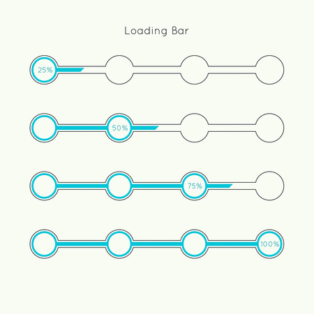Set of vector downloaders. progress bar and loading icon. ui preloader web elements. flat design