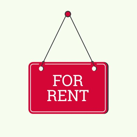 for rent: For rent. Plate on the door, frame. Rental housing