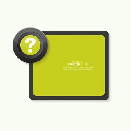 questionail: Question mark icon. Help symbol. FAQ sign on banner. vector