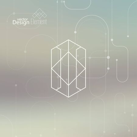 cd label: Abstract neat  Blurred Background. Hipster Geometric shape, line and dot. Modern Signs, Label. For cover book, brochure, flyer, poster, magazine, cd, website, app mobile, annual report, T-shirt,