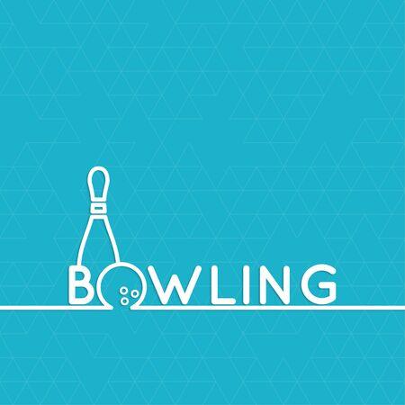 bolos: Bowling. Resumen de vectores de fondo con un patr�n de tri�ngulos. Pin y pelota. El concepto de juegos, entretenimiento, pasatiempos y club de ocio. Vectores