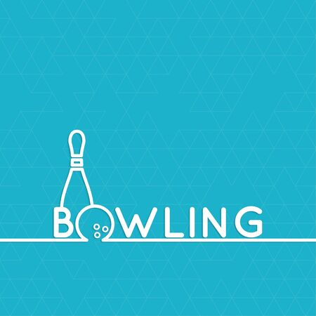 sphere standing: Bowling. Vector abstract background with a pattern of triangles. Pin and ball. The concept of games, entertainment, hobbies and leisure club.