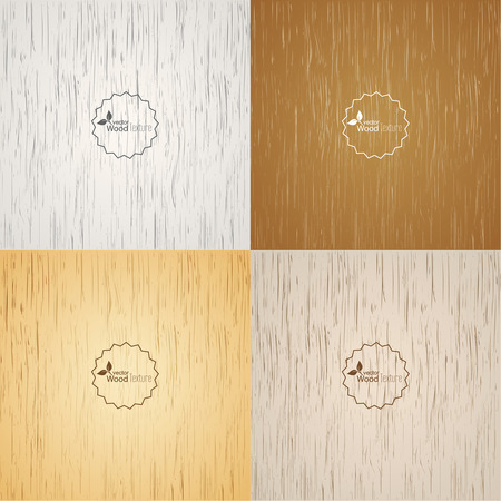 fibrous: Set Light wood background. Panel with a fibrous structure of the tree. Wooden texture. Vector