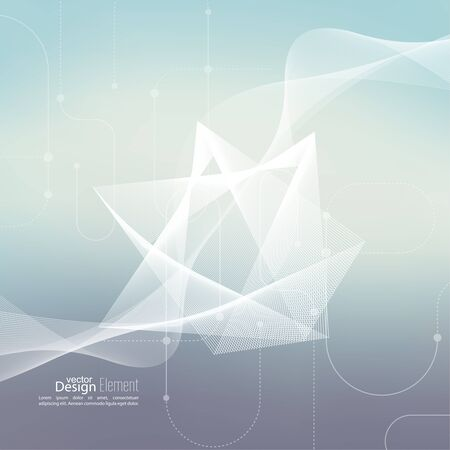 cyberspace: Techno vector abstract background with soft lines. scheme lines and dots. Cyberspace. For cover book, brochure, flyer, poster, magazine, cd cover, website, app mobile, annual report