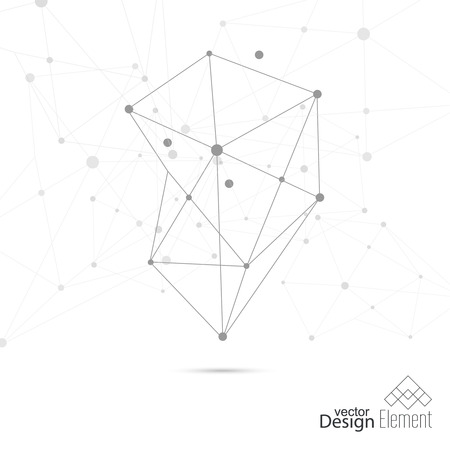 subsidiary: Virtual abstract background with particle,  molecule structure. genetic and chemical compounds. creative vector. Space and constellations. Science and connection concept. Social network. Illustration