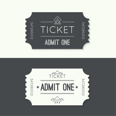 teatro: Billete de entrada al viejo style.Admit vendimia un teatro, cine, zoo, piscina, justo, paseos, columpio, parque de atracciones, carrusel. Icono de reserva online de entradas. Web y aplicaciones móviles