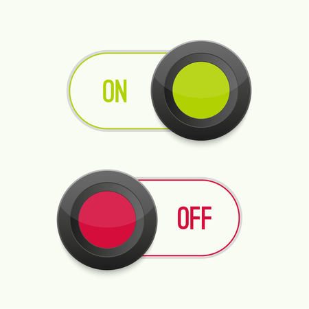 toggle switch: Toggle Switch On and Off position. Button. ui interface