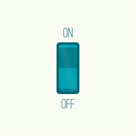 Wall Switch on, off position. Button. ui interface