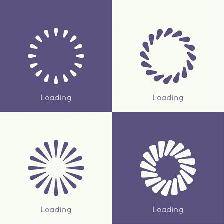 progress bar: Set of vector downloaders. progress bar and loading icon. ui preloader web elements. flat design