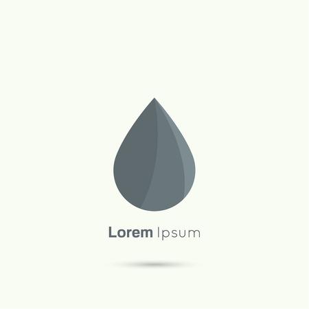 liquid crystal: Black  drop abstract vector logo design template. Liquid Droplet concept symbol. Illustration