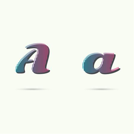 éléments de modèle de conception d'icônes. Supérieure et une lettre minuscule