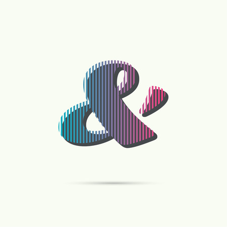 ampersand: Logo icon design template elements. ampersand sing