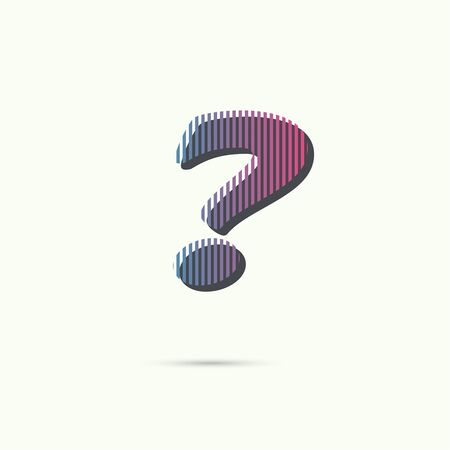 questionail: Question mark icon. Help symbol. FAQ sign. vector