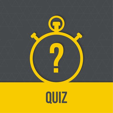 질문과 타이머. 퀴즈. 개념은 대답과 질문입니다. 모바일 애플리케이션을위한 리본 아이콘