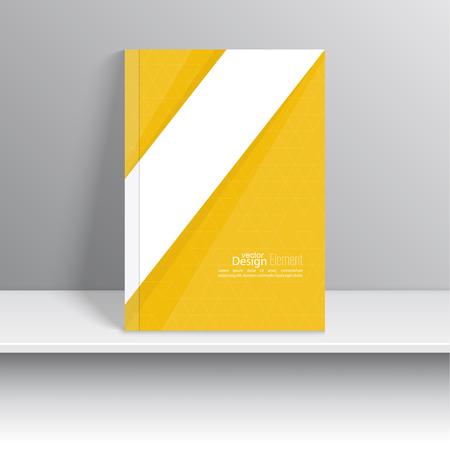 La portada de revista con cintas de intersección origami. Para el libro, folleto, folleto, cartel, folleto, folleto, diseño de portada de CD, tarjetas postales, tarjetas de visita, el informe anual. ilustración vectorial. resumen de antecedentes Foto de archivo - 39039134