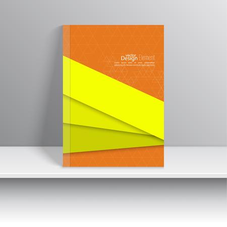 portada de revista: La portada de revista con formas superpuestas y tri�ngulos