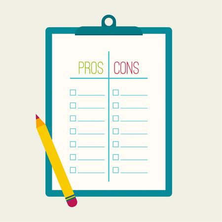 evaluacion: Pros y Contras lista