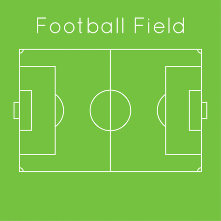The scheme of a football field. top view. Board to parse the tactics of attack, defense Illustration