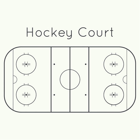 rink: ice hockey rink on a white top view