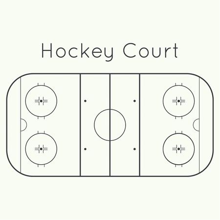 hockey rink: pista de hockey sobre hielo en una vista desde arriba blanco
