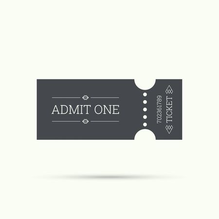entry: Entry ticket, old vintage style