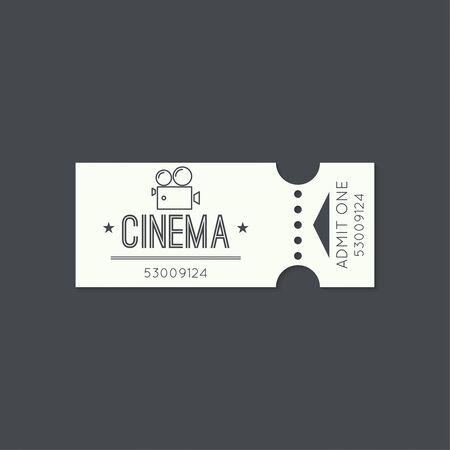 camara de cine: Billete de entrada, de estilo antiguo de la vendimia Vectores