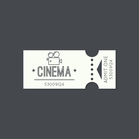 movie camera: Entry ticket, old vintage style