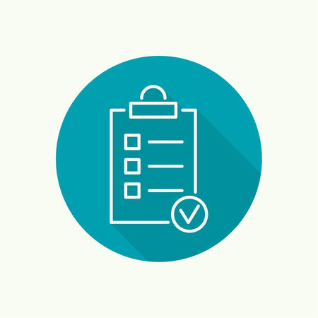 feedback: clipboard with to do list icon Illustration
