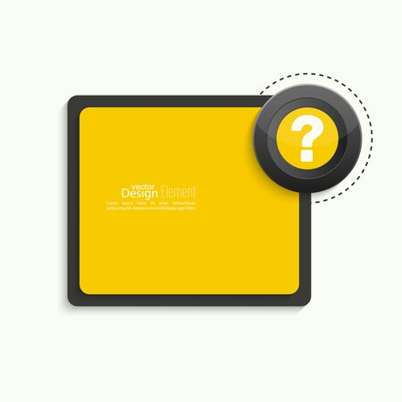Question mark icon. Help symbol. FAQ sign on banner. vector