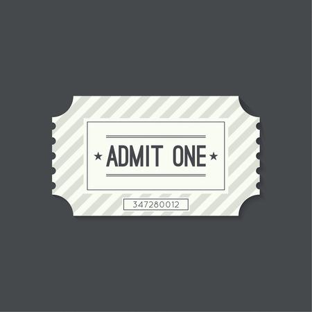 pelicula cine: Billete de entrada al viejo estilo vintage. Admita un teatro, cine, zoo, piscina, justo, paseos, columpio, parque de atracciones, carrusel. Icono de reserva online de entradas. Web y aplicaciones m�viles Vectores