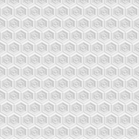 Vector seamless pattern with cubes and hexagons. Repeating geometric shapes, diamond, rhombus, polygon angular Vector