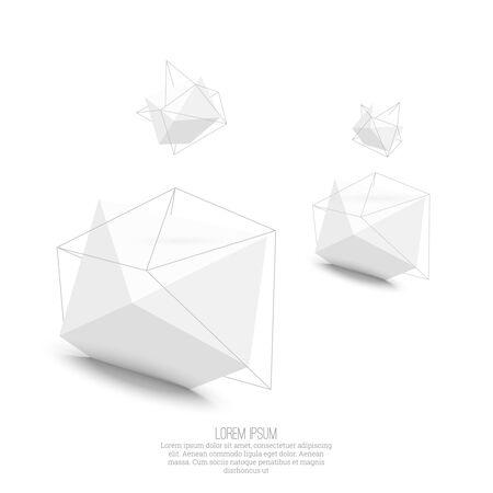 solid figure: Abstract forma geometrica poligonale Vettoriali