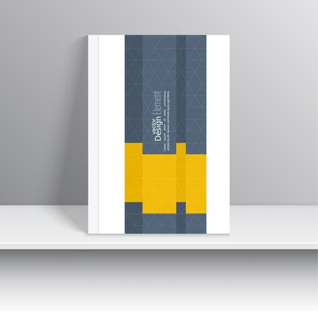 portada de revista: La portada de revista con origami intersecci�n cintas